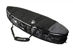 Creatures of Leisure Universal Shortboard Triple Surfboard Bag Black White 7ft 1in
