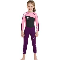 NATYFLY Kids Wetsuit,2.5mm Neoprene Thermal Swimsuit for Boys and Girls (New Pink-girls wetsuit- ...