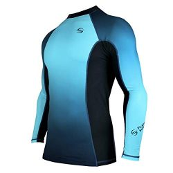 Platinum Sun Rash guard long sleeve surf shirt UPF 30+ Flat Seam, Quick Dry