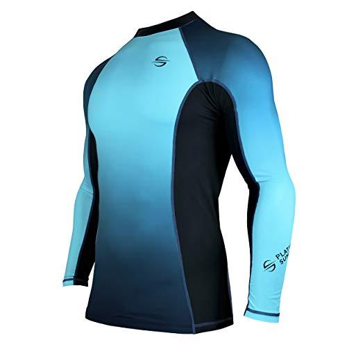 Platinum Sun Rash guard long sleeve surf shirt UPF 30+ Flat Seam, Quick Dry