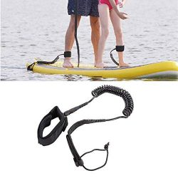 Surfboard Leash Stand up Paddle Sporty Board Leash 10′ Coiled