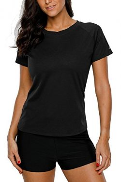 ALove Women's UPF 50+ Rashguard Short Sleeve Sports Outdoors Performance T-Shirt