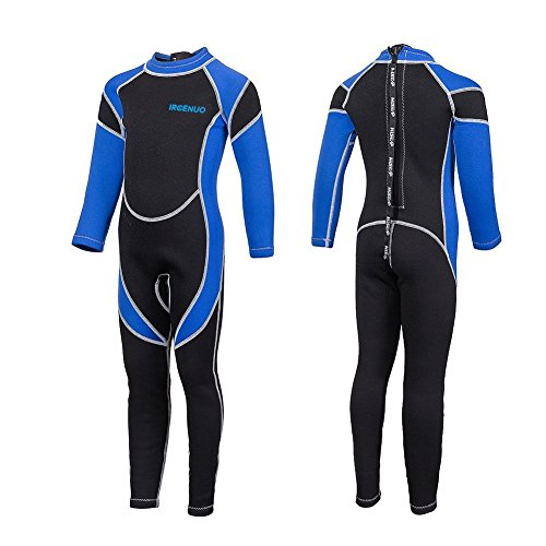 IREENUO Kids Wetsuit Neoprene 2.5mm Thick Long Sleeve One Piece UV Protection Sun Protection Sun ...