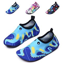 lewhosy Kids Boys and Girls Swim Water Shoes Quick Drying Barefoot Aqua Socks Shoes for Beach Po ...