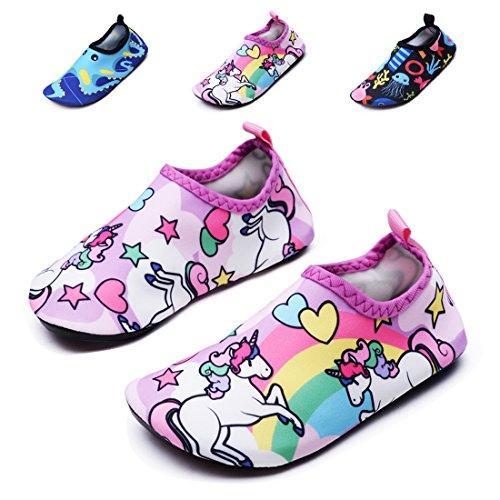 lewhosy Kids Boys Girls Swim Water Shoes Quick Drying Barefoot Aqua Socks Shoes Beach Pool Surfi ...
