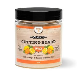CLARK'S Cutting Board Finish Wax (6oz) | Enriched with Lemon & Orange Oils | Made with ...