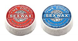 Sex Wax Unisex Quick Humps Surf Wax/Tropic Twin Pack – Red + Blue