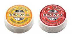Sex Wax Unisex Quick Humps Surf Wax/Cold Twin Pack – Yellow + Red