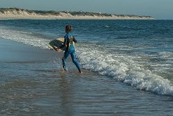 Home Comforts Laminated Poster Skimboard Surf Beach Water Sport Ocean Poster 24×16 Adhesive ...