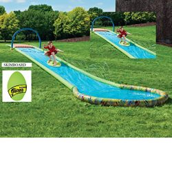 New Outdoor 30 Ft Surfing Water Slide & Surf Skim Board Perfect for Summer Fun