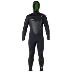 Hyperflex Wetsuits Men's Voodoo 6/5/4mm Hooded Front Zip Fullsuit, Black, L – Surfin ...