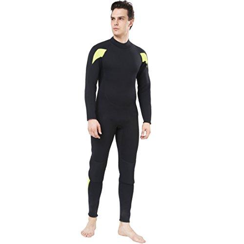 Dark Lightning Full Body Mens Scuba Neoprene Wetsuit, 5/4mm Premium Stretch CR Diving Wet Suits  ...