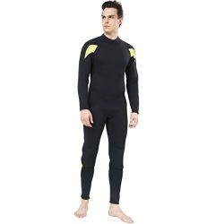 Dark Lightning Full Body Mens Scuba Neoprene Wetsuit, 3mm Premium Stretch CR Diving Wet Suits in ...