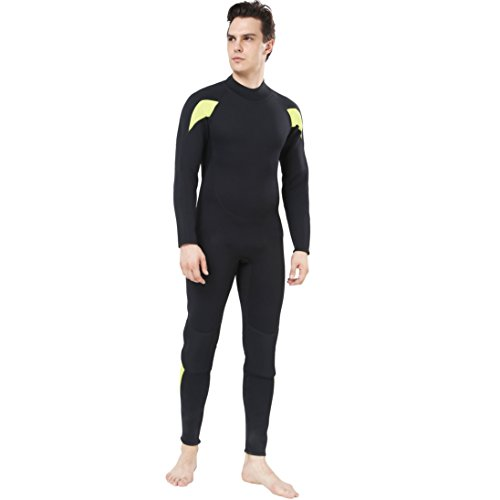 Dark Lightning Full Body Mens Scuba Neoprene Wetsuit, 3mm Premium Stretch CR Diving Wet Suits in ...