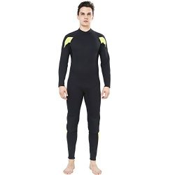 Dark Lightning Mens 3mm Full Suit Wetsuit for Scuba Diving, Snorkeling Surfing Thick and Warm Ju ...