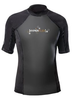 Hyperflex Wetsuits Men's Polyolefin 1.5mm 50/50 S/S Shirt, Black, Large – Surfing, W ...