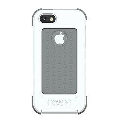 Dog & Bone Wetsuit Waterproof Case for iPhone 5/5s – Retail Packaging – White/Grey