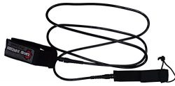 Liquid Shredder Coil Shred-Pro Surfboard/Sup Foot Leash, Black, 8′