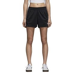 adidas Originals Women's 3-Stripes Shorts, Black, L