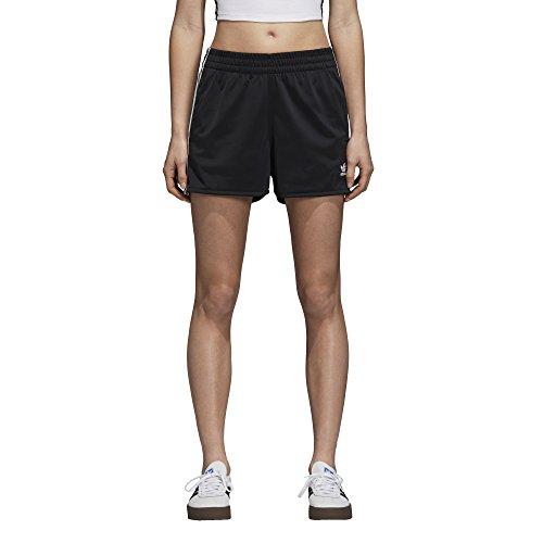 adidas Originals Women's 3-Stripes Shorts, Black, L
