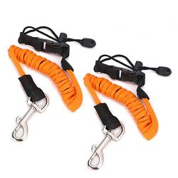 Hipiwe Flexible Kayak Paddle Board Leashes,Stretchable Boat Fishing Safety Rod Paddle Leash Surf ...