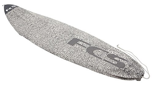FCS Stretch All Purpose Covers Surfboard Socks (Charcoal, 6′ 7″)