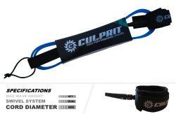 Culprit Surf 6ft COMP Surfboard High Performance Leash – Blue