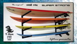 T-Rax Surfboard Wall Rack
