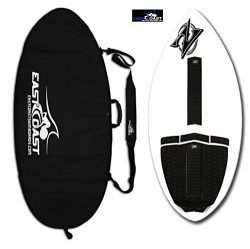 "East Coast Skimboards Deluxe Skimboard Package – Zap Wedge Medium 45"" – White – ..."