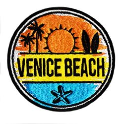 Vintage Style Venice Beach Surfing Surfer Shirt Patch 8cm – Badge – Patches –  ...