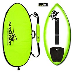 "East Coast Skimboards Deluxe Skimboard Package – Zap Wedge Medium 45"" – Green Halo D ..."