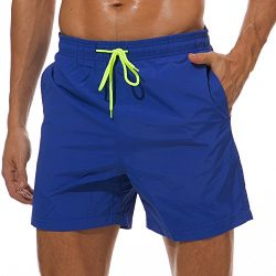 SILKWORLD Men's Swimming Surf Board Shorts Mesh Liner(US M Size-Asian Tag XL, Waist 32.5&# ...