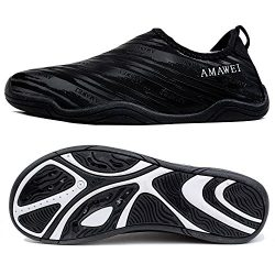 AMAWEI Water Shoes Boys Girls Kids Quick Dry Beach Swim Sports Aqua Shoes Pool Surfing Walking