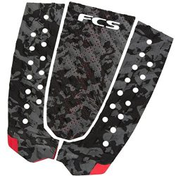 FCS Surfboard Traction Pad Essential Series T-2 (Charcoal Camo, OS)