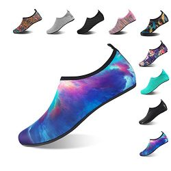 NING MENG Aqua Socks Beach Water Shoes Barefoot Yoga Socks Quick-Dry Surf Swim Shoes for Women Men