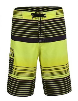 Nonwe Men's Summer Swimming Wear Beach Surf Board Shorts Colorful Stripe Beach Short 13150-34