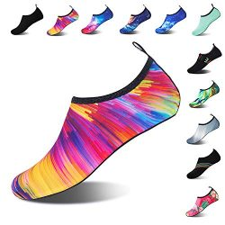 Mens Womens Water Shoes Barefoot Beach Pool Shoes Quick-Dry Aqua Yoga Socks for Surf Swim Water  ...