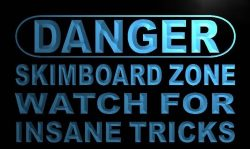 Danger Skim board Zone LED Sign Neon Light Sign Display m667-b(c)