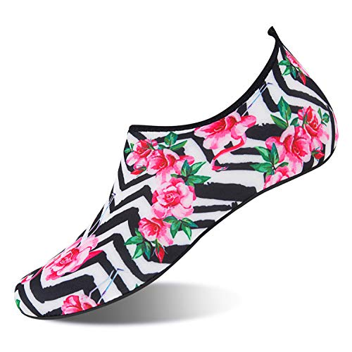 NING MENG Aqua Socks Beach Water Shoes Barefoot Yoga Socks Quick-Dry Surf Swim Shoes for Women M ...