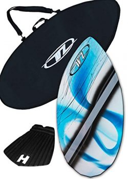 Wave Zone Diamond Skimboard Combo Package for Beginners & Kids up to 110 Lbs – Blue Sk ...